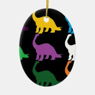 Dinos coloreado adornos de navidad