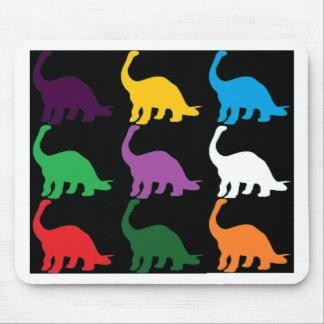 Dinos coloreado alfombrillas de ratones