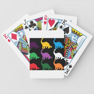 Dinos coloreado barajas de cartas