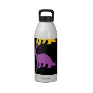 Dinos coloreado botella de agua reutilizable