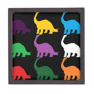 Dinos coloreado caja de recuerdo de calidad