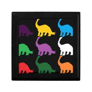 Dinos coloreado cajas de recuerdo