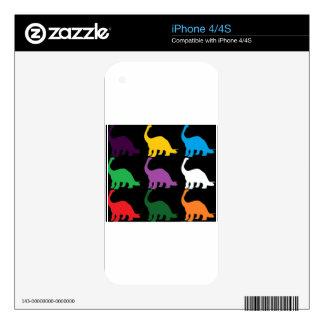 Dinos coloreado calcomanía para el iPhone 4S