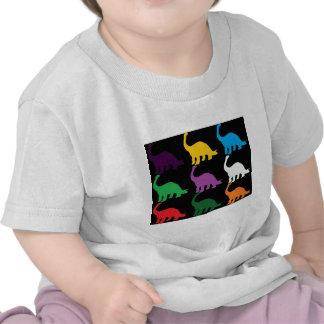 Dinos coloreado camisetas