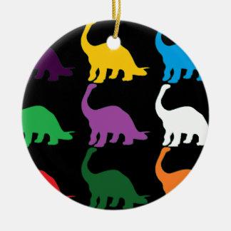 Dinos coloreado ornamento de navidad