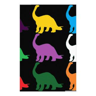 Dinos coloreado  papeleria de diseño
