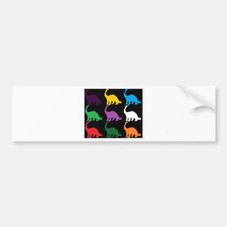 Dinos coloreado pegatina de parachoque