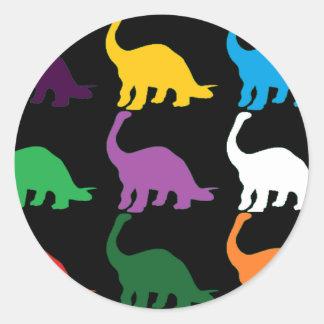 Dinos coloreado pegatinas