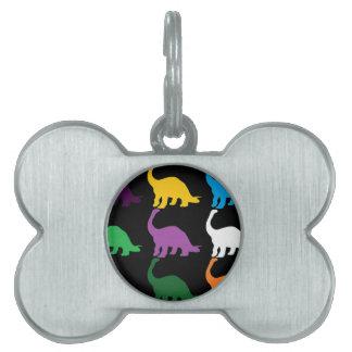 Dinos coloreado placas mascota