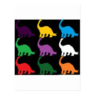 Dinos coloreado postales