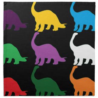 Dinos coloreado servilleta imprimida