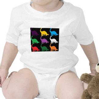 Dinos coloreado traje de bebé