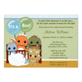 Dinosaur Baby Shower Invitations Announcements Zazzle