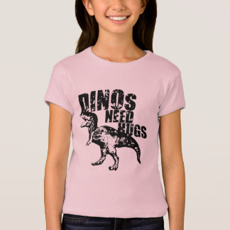 Dinos Need Hugs: Black T-Shirt