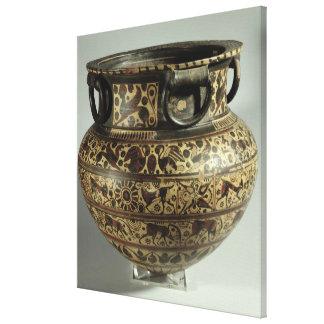 Dinos Orientalizing griegos del este, cabra salvaj Lienzo Envuelto Para Galerías