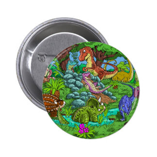 dinos_playing 2 inch round button
