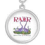 Dinos - Rawr lindos y románticos Colgantes