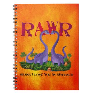 Dinos - Rawr lindos y románticos Cuaderno