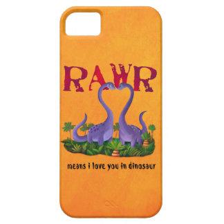 Dinos - Rawr lindos y románticos Funda Para iPhone 5 Barely There