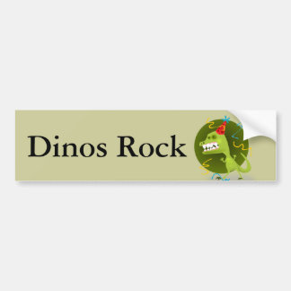 Dino's Rock - Dinosaur Birthday Party Bumper Sticker