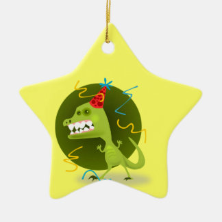 Dino's Rock - Dinosaur Birthday Party Ceramic Ornament