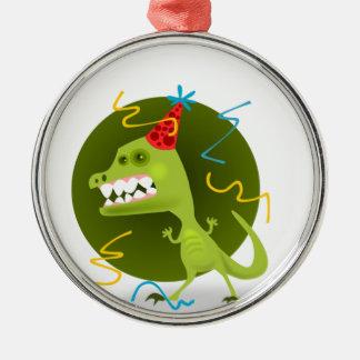 Dino's Rock - Dinosaur Birthday Party Metal Ornament