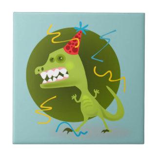 Dino's Rock - Dinosaur Birthday Party Tile