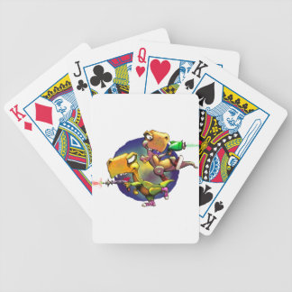 Dinos with Rayguns! Bicycle Playing Cards