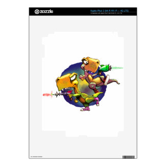 Dinos with Rayguns! Decal For iPad 3