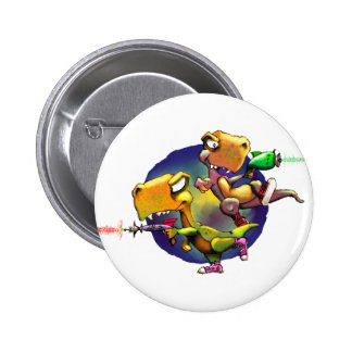Dinos with Rayguns! Pinback Button