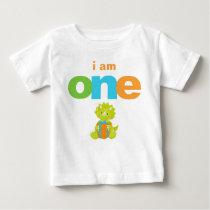 Dinosaur 1st Birthday T-shirt Toddler Baby Kid