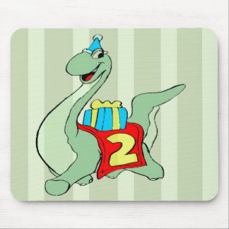Dinosaur 2nd Birthday Gifts Mouse Pad