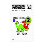 Dinosaur 2nd Birthday T-shirts and Gifts Postage