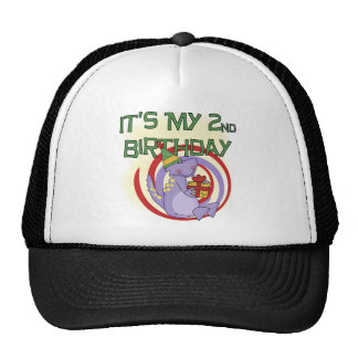Dinosaur 2nd Birthday Tshirts and Gifts Trucker Hat