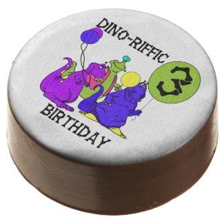 Dinosaur 3rd Birthday Dipped Oreos