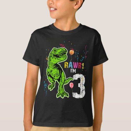 Dinosaur 3rd Birthday T_Rex T_Shirt