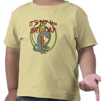 Dinosaur 4th Birthday T-shirts and Gifts