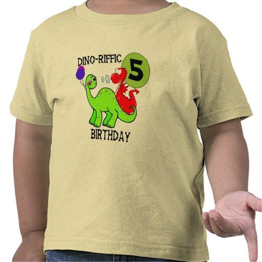 Dinosaur 5th Birthday T-shirts and Gifts