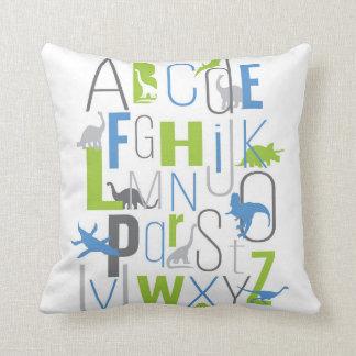 Dinosaur ABC Alphabet Pillow Modern KIds Decor
