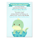 Dinosaur About To Hatch Baby Shower Invitations at Zazzle