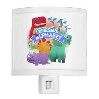 Dinosaur Alphabet Night Light