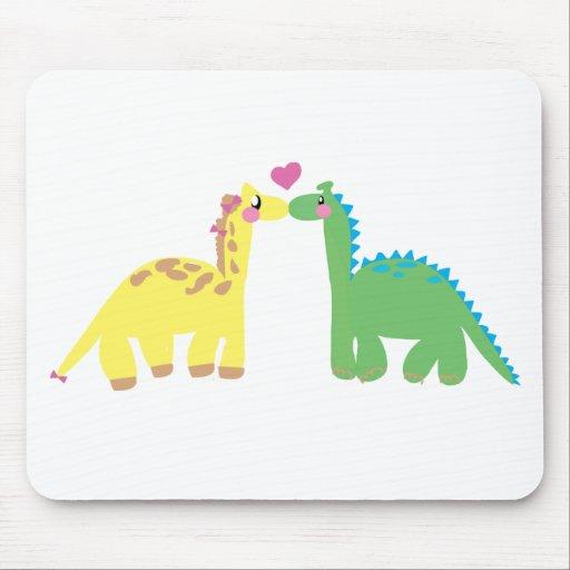 DINOsaur and a GIRAFFE Mouse Pad