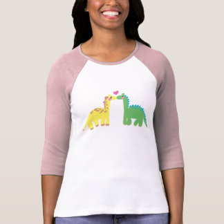 DINOsaur and a GIRAFFE T-Shirt