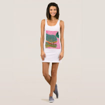 Dinosaur and Butterfly Tank Top Art Dress