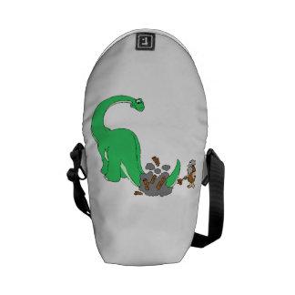 Dinosaur And Caveman Courier Bag