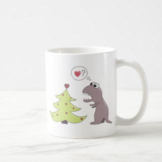 Dinosaur and Christmas Tree Mug