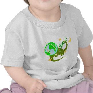 Dinosaur and globe shirts