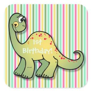 Dinosaur and Stripes 1st Birthday 1.5