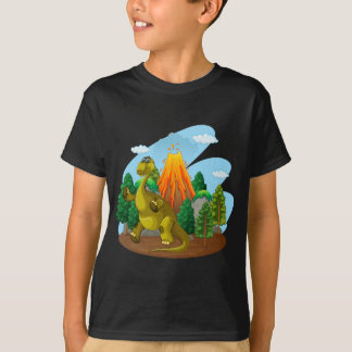 Dinosaur and volcano eruption T-Shirt