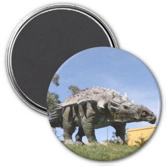 Dinosaur - Ankylosaurus Dinosaur in Sucre Bolivia 3 Inch Round Magnet